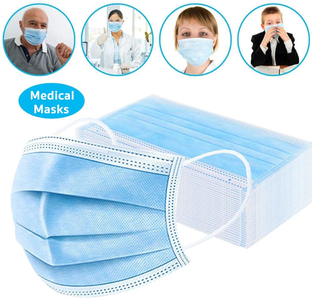 disposable face mask with elastic ear loop