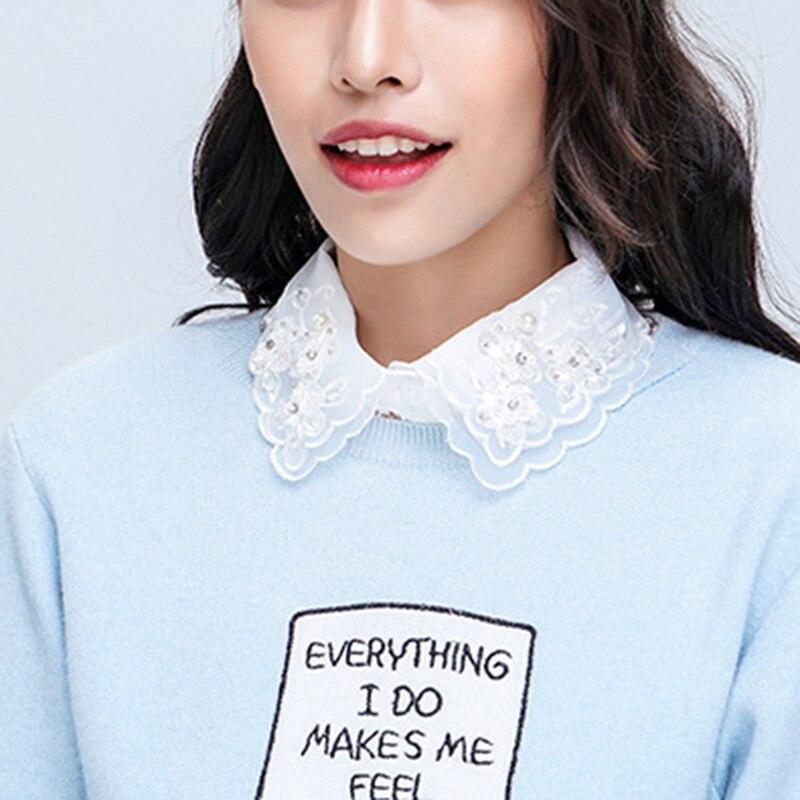 Women's Lapel Shirt Fake False Collar Choker Necklace Clothing Decor