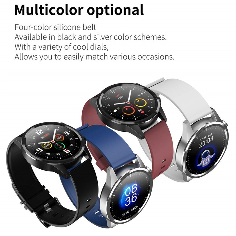 2020NEW Smart Watch Men Bluetooth Call Heart Rate Blood Pressure Oxygen Full Round Touch Screen Weather Display Smartwatch Women 6