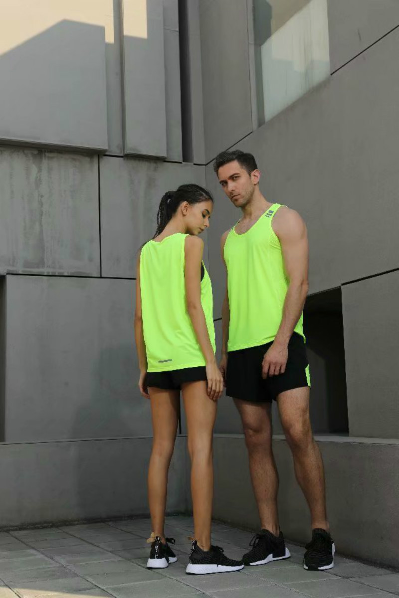 Running Fitness Clothes Short sleeve Dried Mens Tight fitting vest Sports Sweat Absorbing Tanks Basketball Training tank tops in Tank Tops from Men 39 s Clothing