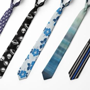Creative Pattern Floral Tie For Mens Printed Necktie Polyester 5cm Wedding Party Casual Gentleman Tasteful Artistic Man'Tie