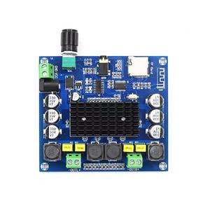 Image 4 - Bluetooth 5.0 100W + 100W TPA3116 דיגיטלי אודיו כוח Amp HiFi צליל ערוץ כפול Class D סטריאו Aux TF כרטיס מגבר לוח