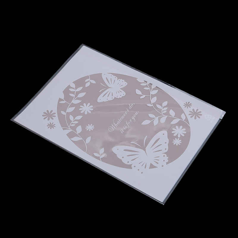 Hot 100pcs Pink butterfly Plastic Cookie Packaging Bags Cupcake Wrapper Self Adhesive bags 13x19cm Butterfly Printed Biscuit Bag