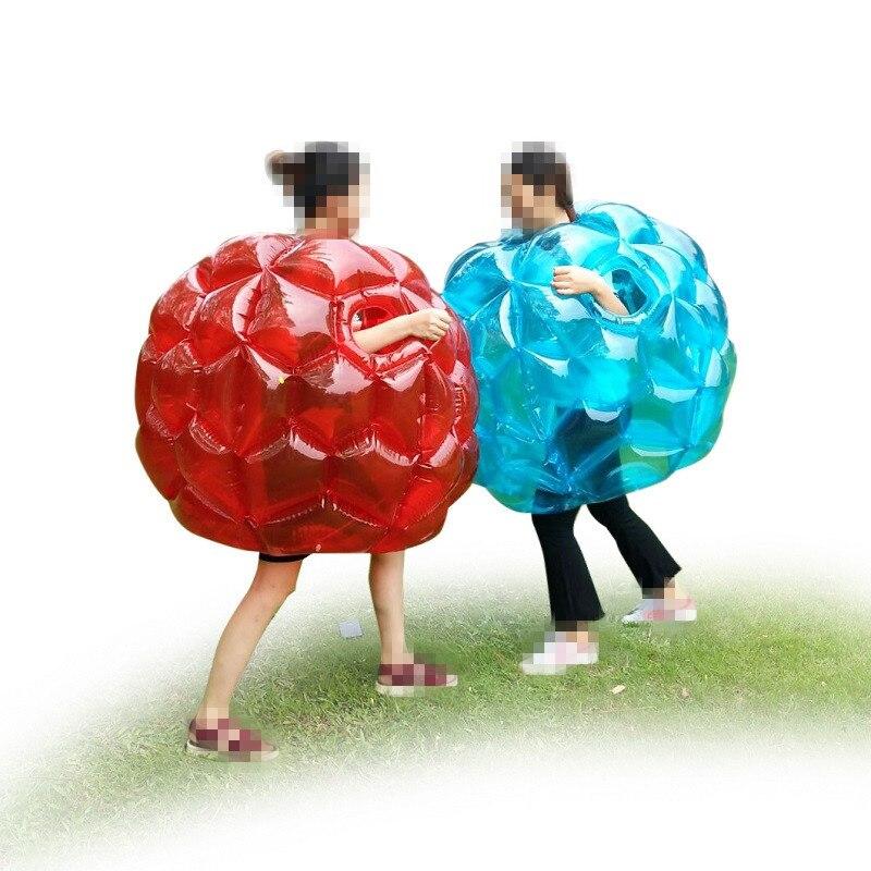 Boules de Zorb de butoir portatif gonflable de copain de 90cm résistantes boules de football durables de bulle de PVC Viny jeu extérieur pour des enfants jouent l'amusement - 5