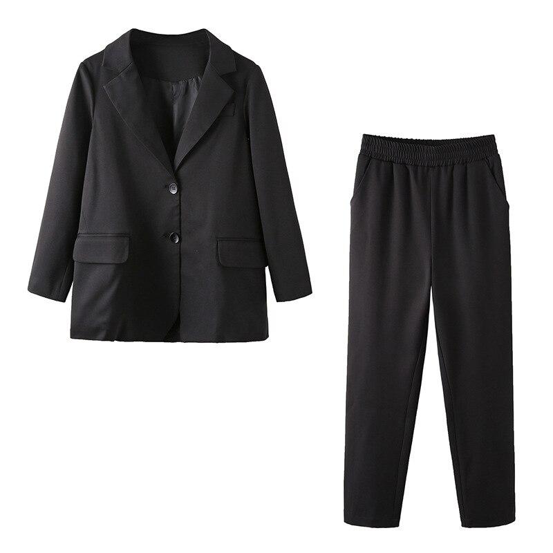 4XL 5XL Plus Size Woman Black Pink Trouser Suit 2 Piece Blazer Set Women Work Trouser Suits for Women Business Casual Outfits