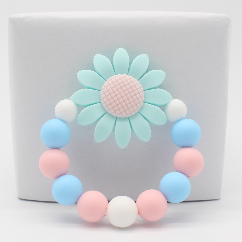 Baby Teething Silicone Bracelet 1PC Flower Food Grade Silicone Nurse Gift Childen's Goods Teethers Toy Bisphenol A Free