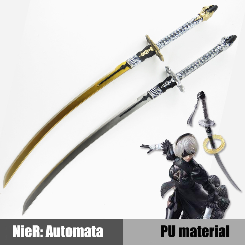NieR Automata YoRHa No.2 Type B PU Sword Weapon Anime 9S Cosplay Samurai Sword Katana Knife Espada Weapon Prop Toy For Teen