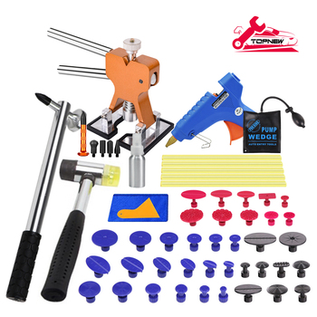 brass head 2 in 1 slide hammer dent puller lifter kit car paintless dent repair hail removal kit pdr lamp line board tools Auto Dent Puller Kit - Paintless Dent Repair Kit Dent Lifter Puller for Car Large & Small Ding Hail Dent Removal