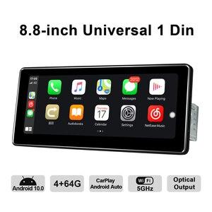 "Image 4 - 8.8 ""אנדרואיד 10 רכב רדיו Pantalla 1 דין 4GB 64GB אוניברסלי ראש יחידת Bluetooth מולטימדיה 4G carplay אנדרואיד אוטומטי אופטי פלט"