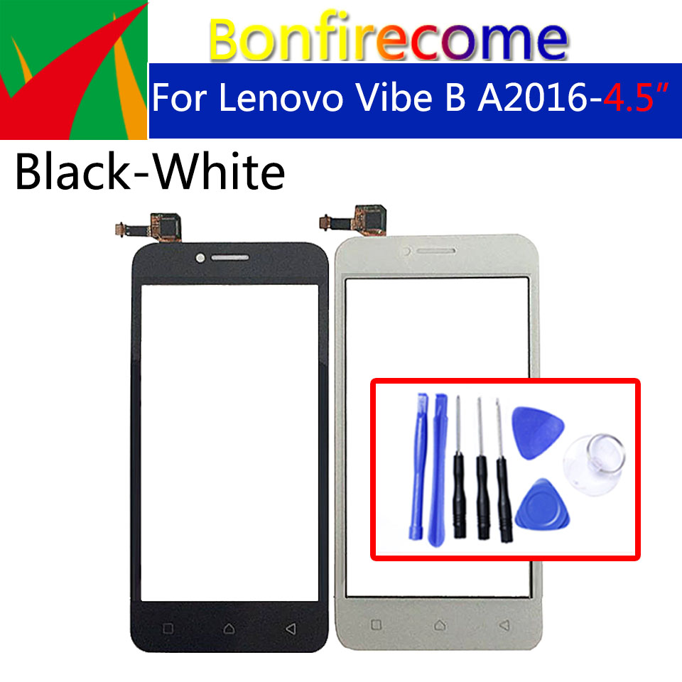 Touchscreen For Lenovo Vibe B A2016a40 A2016 <font><b>Touch</b></font> Screen Digitizer <font><b>LCD</b></font> Display Front Glass Panel Sensor Replacement <font><b>4.5</b></font> <font><b>inch</b></font> image