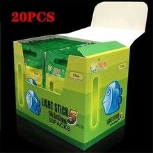 20Pcs 4.5*37mm/3.0*25mm Angeln Float Leuchtstoff Leucht Light Nacht Float Stange Lichter dark Glow Stick Nützliche Angeln/Party
