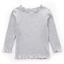 New Autumn Baby Girls Long Sleeve Solid T-shirt Kids Cotton Tops Tees Casual Blouse
