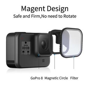 Image 2 - Комплект магнитных фильтров TElESIN CPL ND 8/16/32 для gopro 8 hero8, поляризационный фильтр ND8 ND16, Защитная линза, аксессуары для объектива камеры
