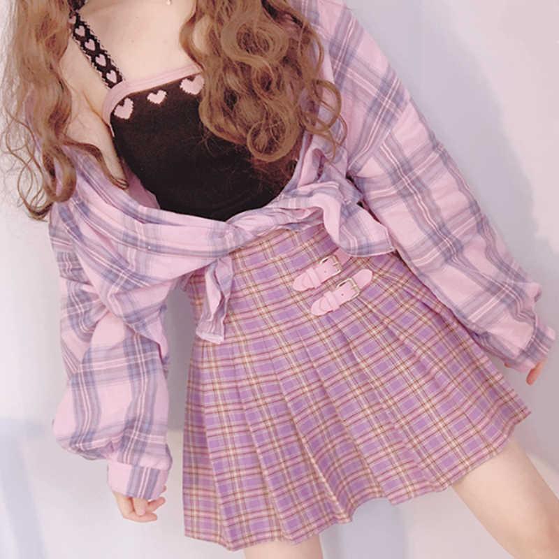 Pastel Plaid Skirt