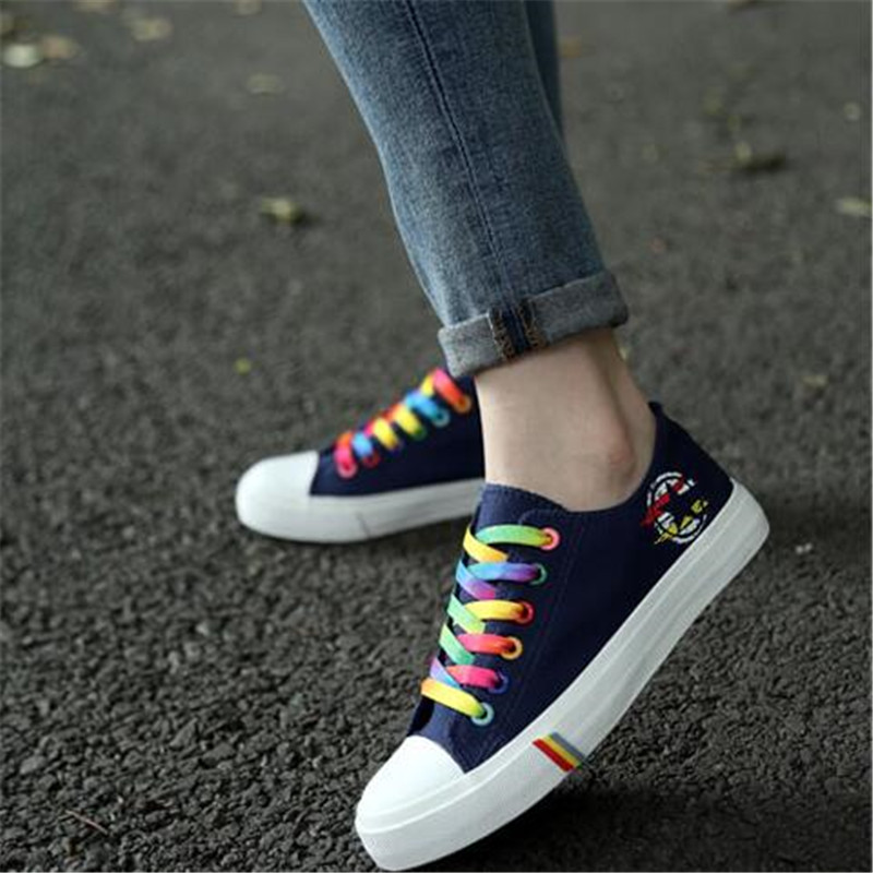 Women Fashion Sneakers Canvas Colourful