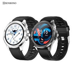 SENBONO 2020 Women Men Smart Watch IP68 Waterproof Smart Clock HR/BP Fitness Sports Tracker S11 Smartwatch For Android IOS