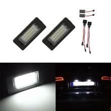 Venda quente 2 pces luz da placa de licença do carro 24 smd led kit apto para audi a4 b8 s4 a5 s5 q5 s tt