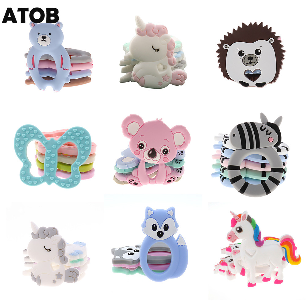 Raccoon Kids Baby Teether Silicone Pendant Pacifier Chewable Teething Toy