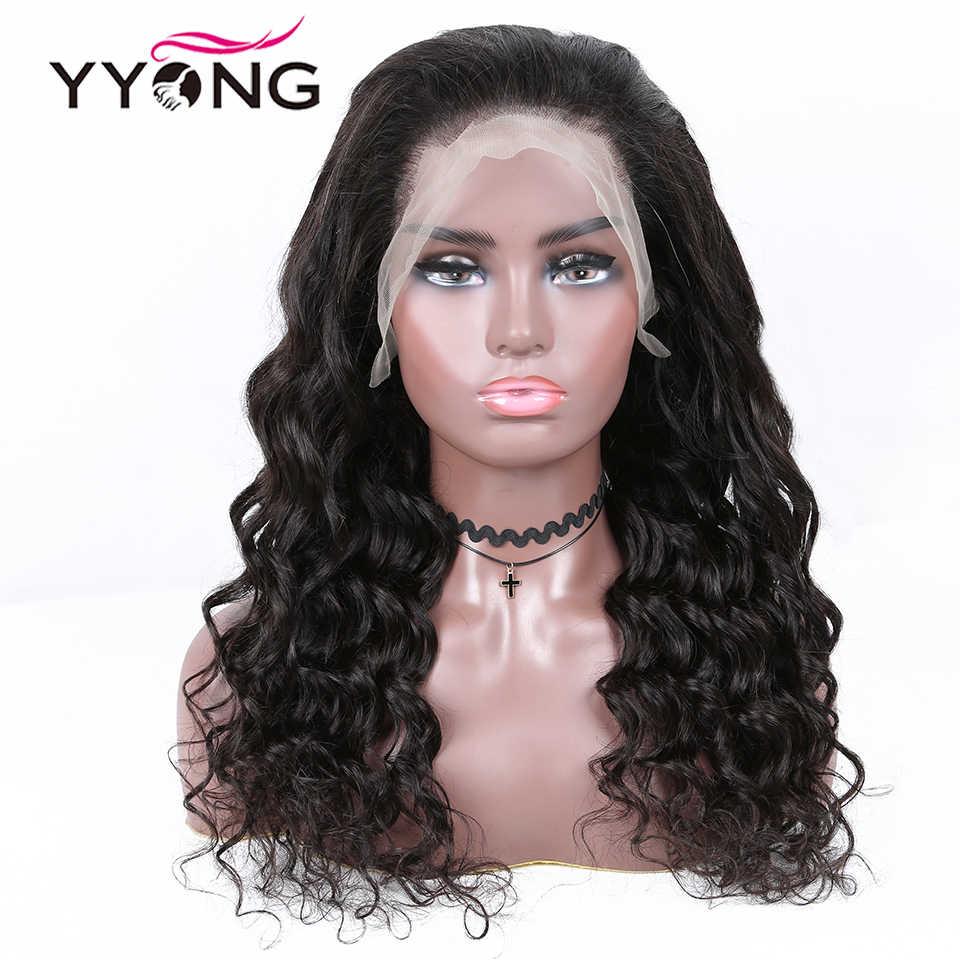 YYong Remy peluca con malla Frontal 13x6 pelucas de encaje de cabello humano pelucas frontales PrePlucked suelto profundo 120 150 de densidad del pelo malayo de encaje suizo