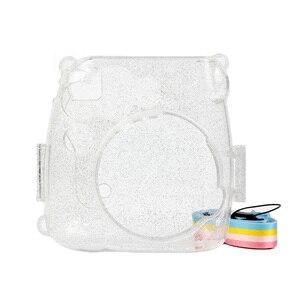 Image 2 - Transparante Camera Case, Crystal Clear Tas, compatibel Voor Fujifilm Instax Mini 9/Mini 8 +/Mini 8 Instant Film Camera Met Riem