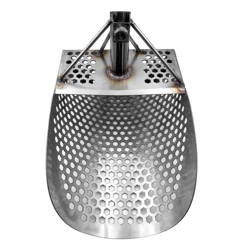Scoop Hexagonal de sable pour la détection en métal, détecteur de métaux d'acier inoxydable pour l'outil de recherche de ruée vers l'or de chasse au trésor de plage