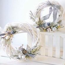 Плетеный венок 10 см/20 см/30 см, украшение, рождественское кольцо из ротанга с лозой, цветочное кольцо, натуральные украшения, аксессуары для р...