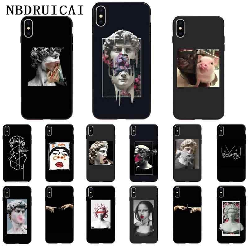 NBDRUICAI Mona Lisa sanat David TPU yumuşak silikon telefon kılıfı kapak iPhone 11 pro XS MAX 8 7 6 6S artı X 5 5S SE XR durumda