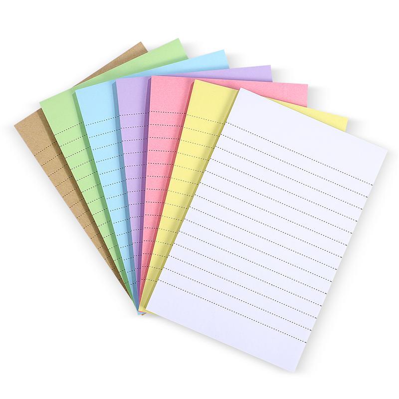7 самоклеящихся блокнотов, бумажные стикеры для записей карамельных цветов, блокноты в поперечную полоску