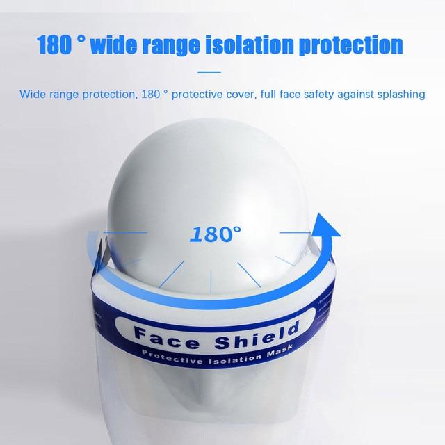 2PCS Unisex Anti Saliva Anti Splash Adjustable Outdoor Safe Protective Shield Cover Glasses Flip Up Visor Oil Protection 5