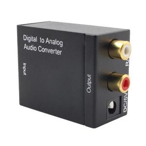 Двойной чип, оптоволоконный оптический цифровой стерео аудио SPDIF Toslink коаксиальный сигнал в Аналоговый адаптер 2xRCA усилитель декодер адапте...
