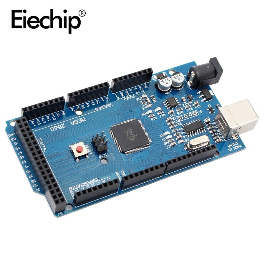 Плата MEGA2560 Mega 2560 R3 REV3, материнская плата CH340G AVR на USB-кабеле, совместима с макетной платой arduino Mega 2560 R3