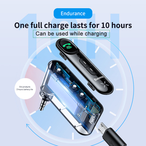 Image 4 - Baseus AUX Car Bluetooth Receiver 3.5MM Jack Audio Music Bluetooth 5.0 Car Kit Wireless Handsfree Speaker Bluetooth Car Stereo