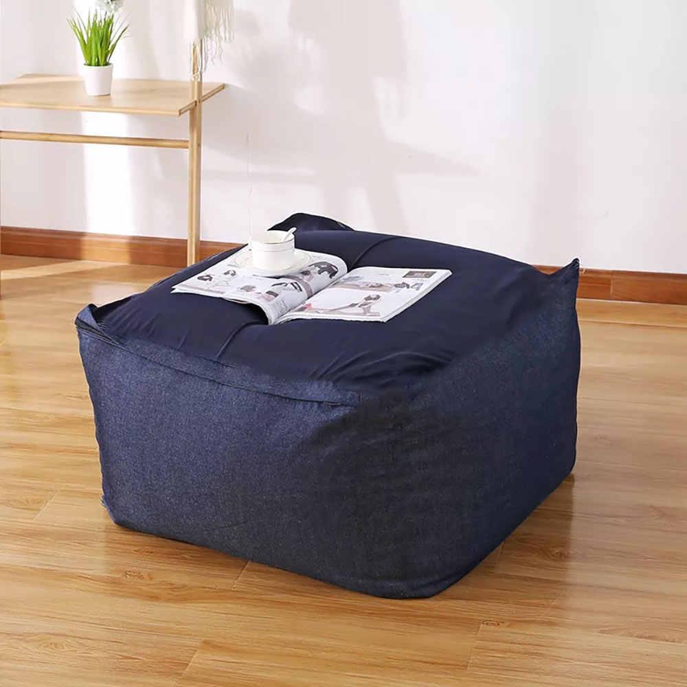 Tembel fasulye torbası kanepeler kapak sandalyeler dolgu keten kumaş şezlong koltuk puf puf kanepe Tatami oturma odası