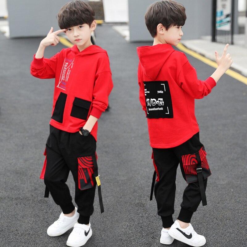spring autumn kids cotton clothes sets Boys' Leisure Suit Coat + Boys' pants Sportswear Students Trousers 2