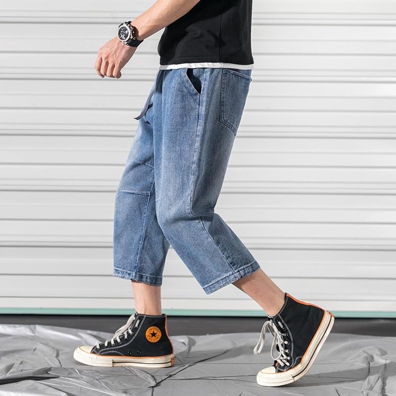 2019 Spring Large Size Japanese-style Rolling Door Cowboy Capri Pants Harem Pants M-5x Gk46-p6