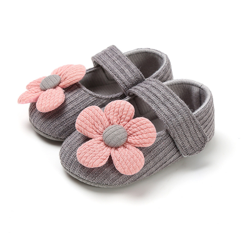 Cute Flower Baby Girl Shoes Soft Sole Cotton Newborn Toddler Girl Shoes Non-Slip Infant Girls First Walkers Shoes Schoenen