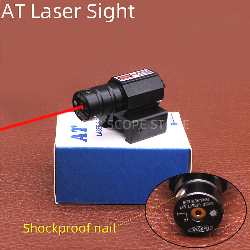 Tactical AT Red Laser Sight for Glock 19 Accessories  Glock Laser Scope  Powerful Laser Pointer 11/20mm Can Change-0