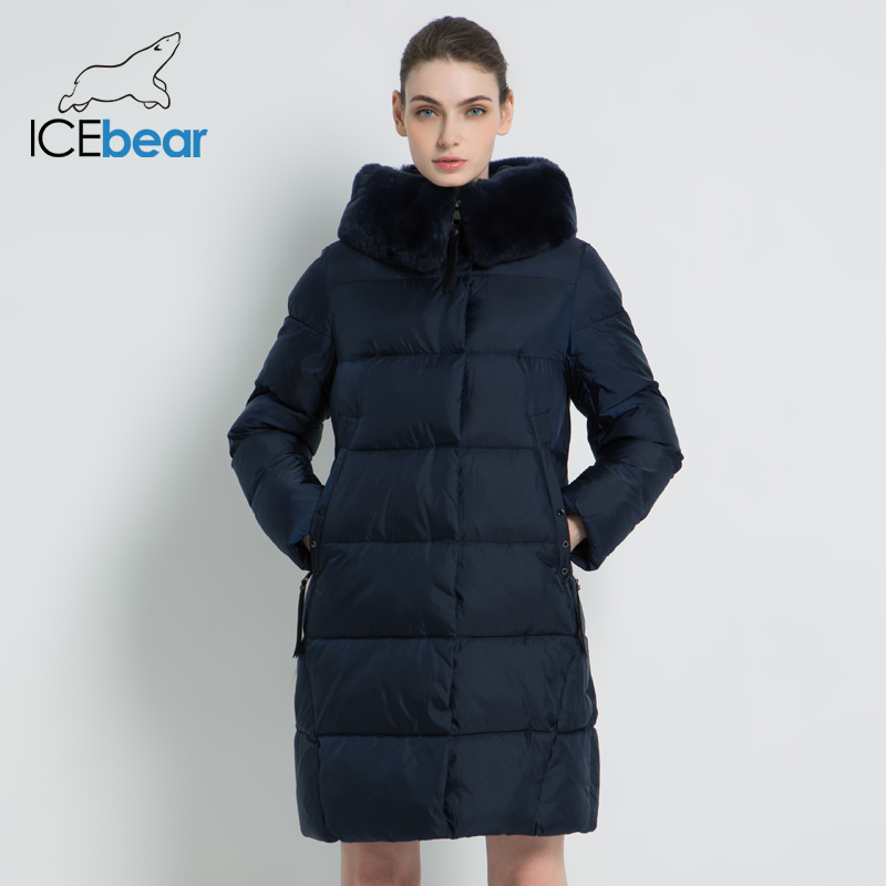 2019 New Winter Women's Jacket High Quality Rex Rabbit Fur Collar Female Coats Fashion Woman Jackets Thickened Women GWD18267