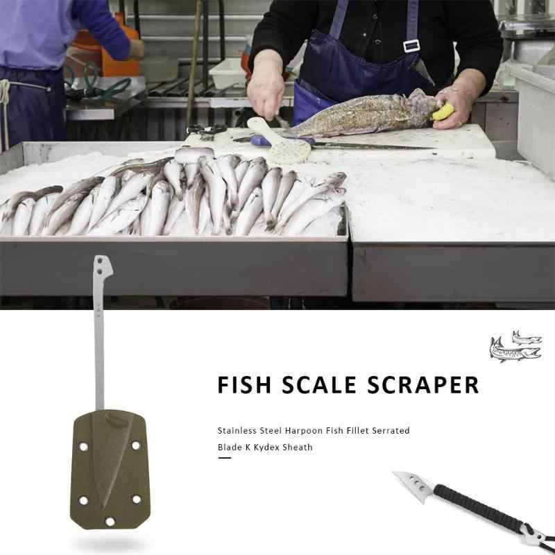 Harpoon Fishing Spear Fish Flake Fillet Serrated Blade Spearhead Fork Fish Scrap