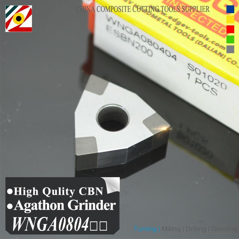 Inserti EDGEV 1PC CBN WNMG 080404 080408 080412 WNGA 080404 431 432 Tornio con inserto in nitruro di boro PCBN Utensili per tornitura