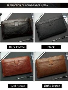 Image 4 - WESTAL portefeuille mâle en cuir véritable hommes portefeuilles pour porte carte de crédit pochette mâle sacs porte monnaie hommes en cuir véritable 9041