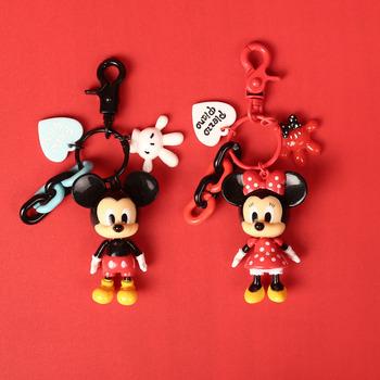 Disney mickey mouse rysunek zabawki karton torba wisiorek uroczy brelok z postacią z kreskówki tornister wisiorek do torby dziewczyna chłopiec pamiątka prezent zabawka tanie i dobre opinie CN (pochodzenie) NYLON Unisex Stałe Opaski na głowę 28 M