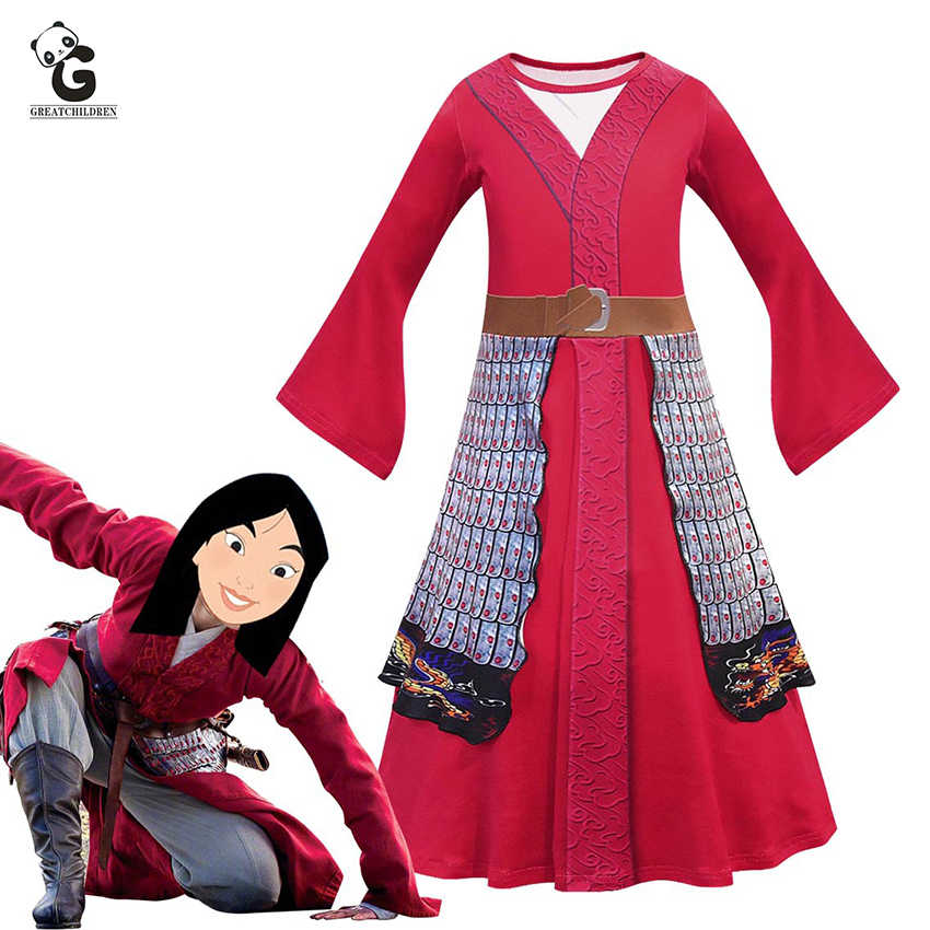 Mulan Costume Girls Dress For Kids Anime Costumes Mulan Cosplay Halloween Battle Robe Carnival Christmas Party Clothes Aliexpress