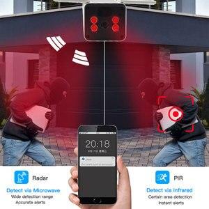 Image 4 - SANAN 1080P Solar Kamera WIFI Wireless überwachungs kamera Outdoor IP67 10400mAh Batterie Powered Sicherheit IP Kameras PIR/Radar Menschlichen erkennung CCTV