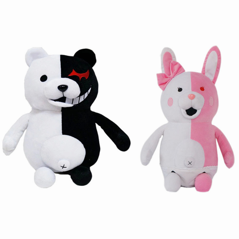 Danganronpa Dangan-Ronpa Pink//White Monomi Rabbits Cosplay Costume With Badge
