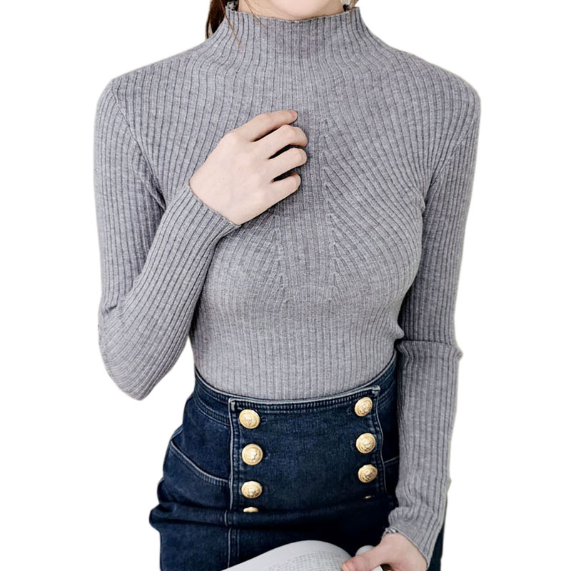 Women Sweater Turtleneck Knitted Sweaters 2019 Tops Pullover Ladies Autumn Winter