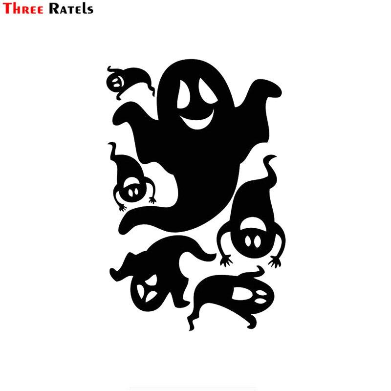 Funny Ghost Happy Halloween Autocollant Vinyle Autocollant Voiture