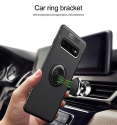 На Алиэкспресс купить чехол для смартфона for samsung galaxy s10 exynos case magnetic ring bracket soft matte silicone thin cover for samsung s10 sd855 shockproof coque