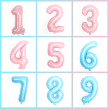 32inch Number Foil balloons Happy Birthday Party Decora Pearl Blue Pink Balloon Globos Baby Shower  Ballon Decoration