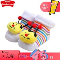 TELOTUNY/носки для малышей Нескользящие нескользящие носки с рисунком для новорожденных девочек и мальчиков; тапочки; обувь; носки для обуви хл...